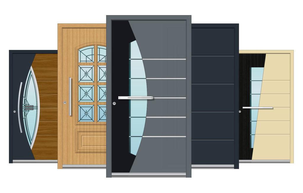 تصاميم أبواب ألمنيوم